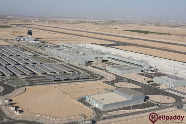 Murcia International Airport by helicopter