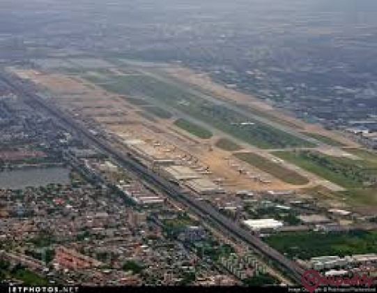 Don Mueang International Bangkok by helicopter