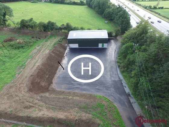 Keatingspark Heliport by helicopter