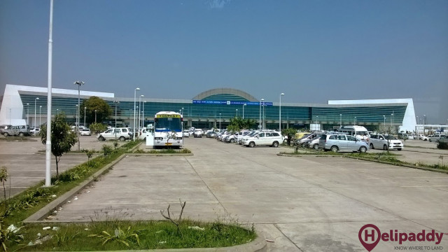 Lal Bahadur Shastri Airport  by helicopter