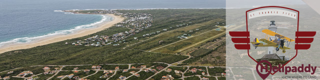 St Francis Airfield, South Africa by helicopter