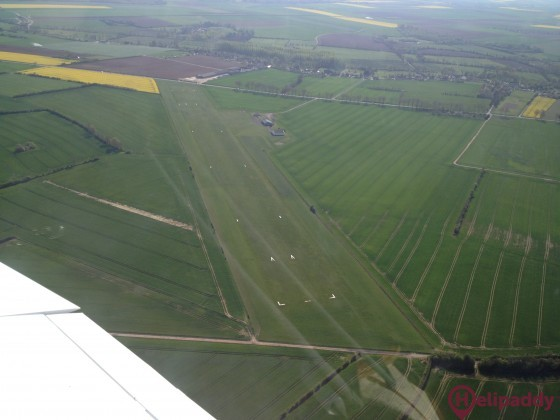 Argentan Airport by helicopter