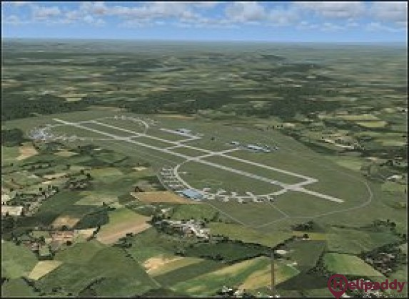 Cognac-Chateaubernard Air Base by helicopter