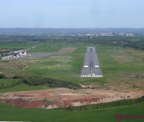 Rodez-Avezyron Airport by helicopter