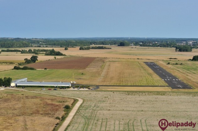Amboise Dierre Airport by helicopter