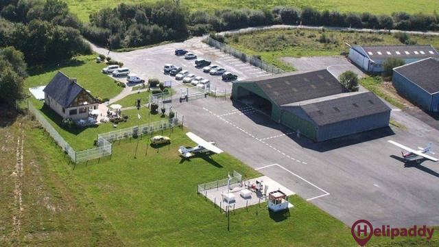 Guiscriff Scaer Airport by helicopter