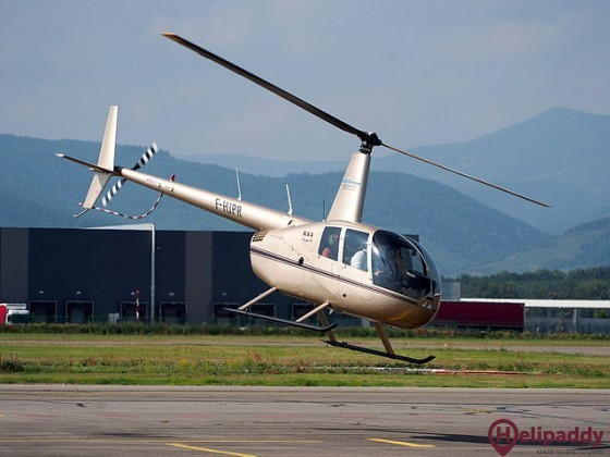 Colmar-Houssen Airport by helicopter