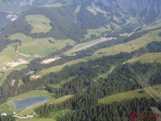 Megeve by helicopter