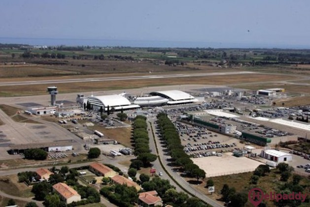 Bastia-Poretta Airport by helicopter