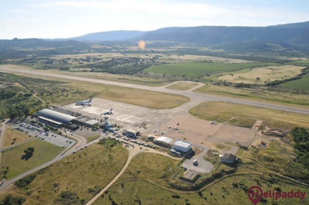 Figari Sud-Corse Airport by helicopter