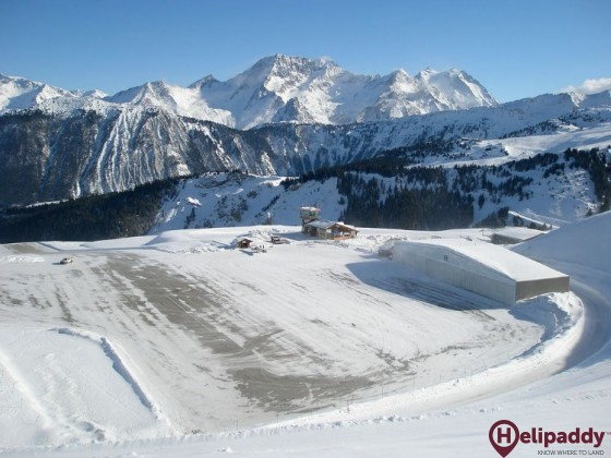 Meribel Airport by helicopter