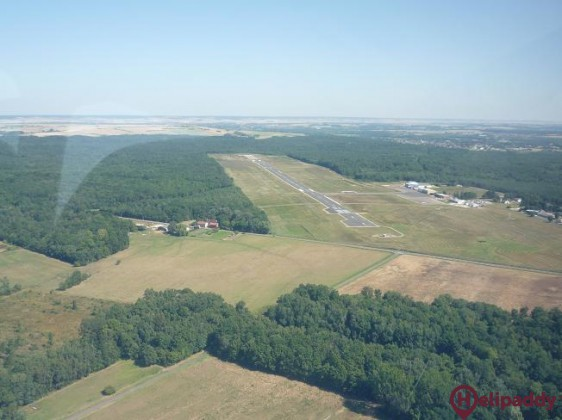 Auxerre-Branches Airport by helicopter