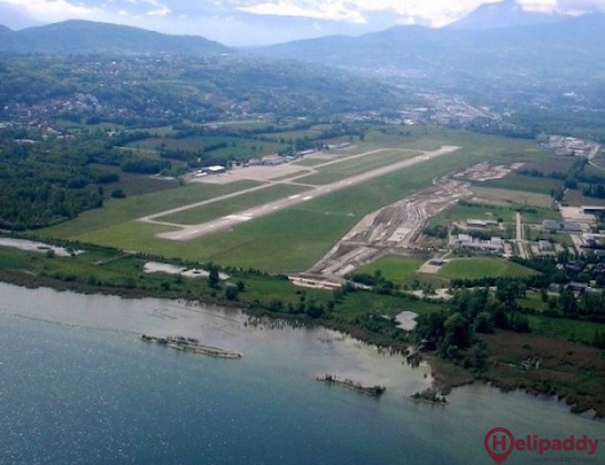 Chambery Airport by helicopter