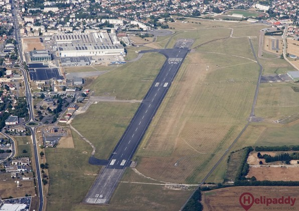 Bourges Airport by helicopter