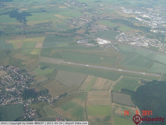 Chalon-Champforgeuil Airport by helicopter