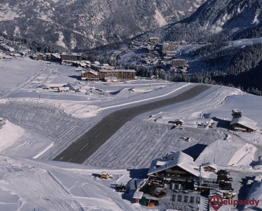 Courchevel Airport by helicopter