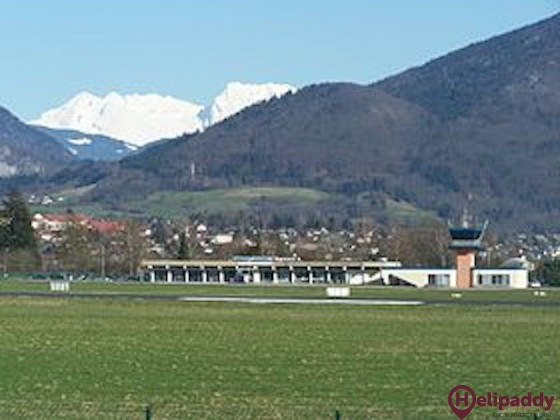 Annecy-Haute-Savoie-Mont Blanc Airport by helicopter
