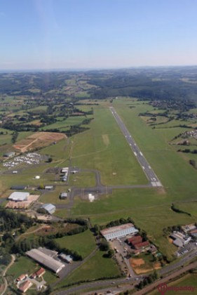 Aurillac Airport by helicopter