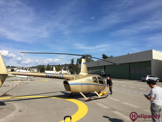 Cannes-Mandelieu Airport by helicopter