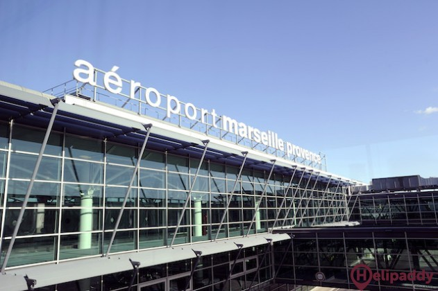 Marseille Provence Airport by helicopter