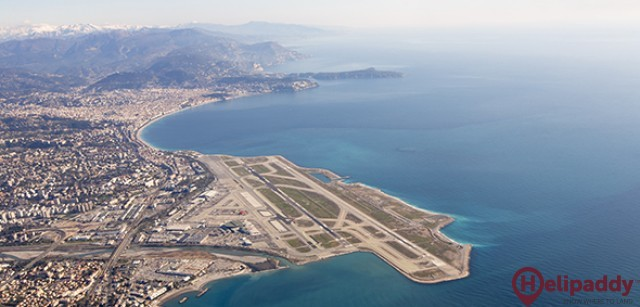 Nice-Cote d'Azur Airport by helicopter