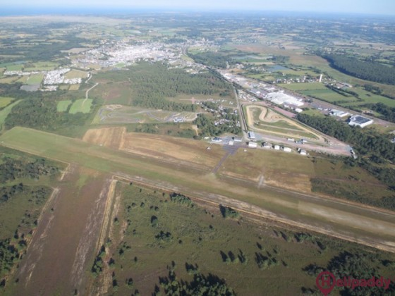 Lessay Airport by helicopter