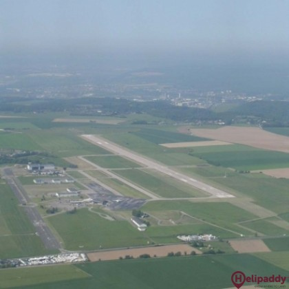 Rouen Airport by helicopter