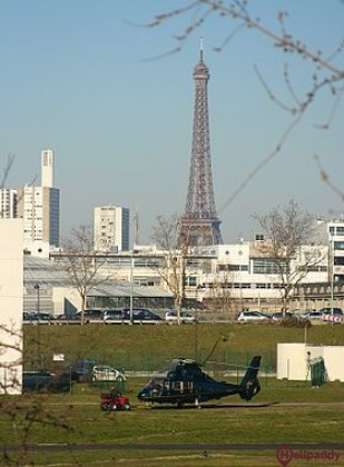 Paris Issy-les-Moulineaux Heliport by helicopter