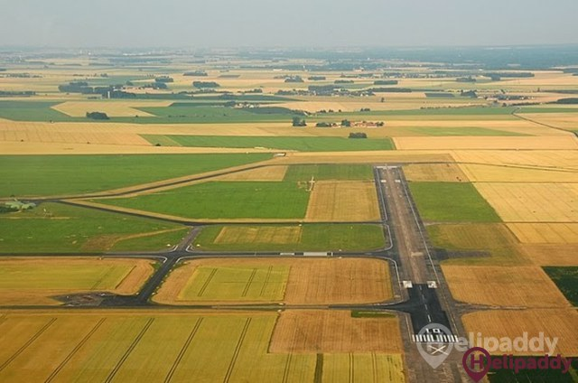 Melun-Villaroche Air Base by helicopter