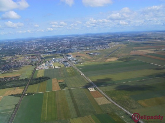 Troyes-Barberey Airport by helicopter