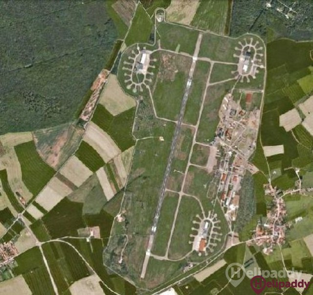 etain-Rouvres Air Base by helicopter