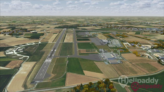 Lille-Lesquin Airport by helicopter