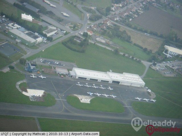 Merville-Calonne Airport by helicopter