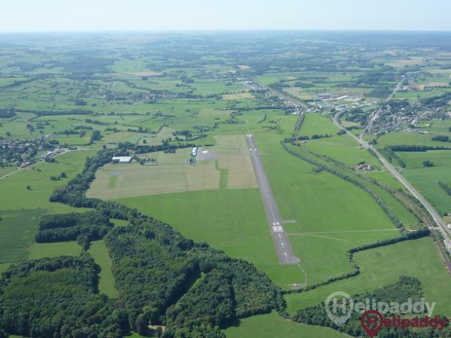 Charleville-Mezieres Airport by helicopter