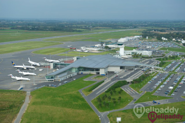 Brest Bretagne Airport by helicopter