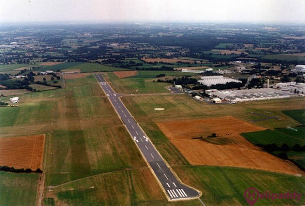 La Roche-sur-Yon  by helicopter