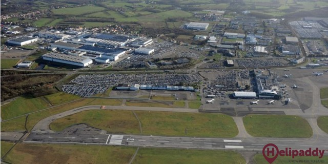 Nantes Atlantique Airport by helicopter