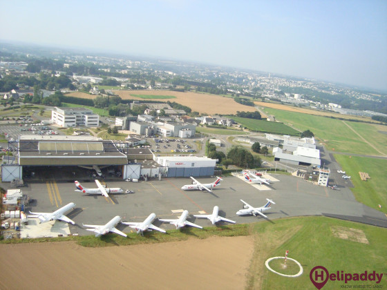 Morlaix-Ploujean by helicopter