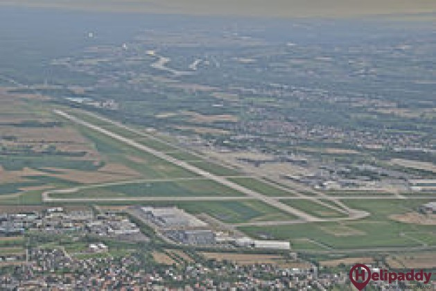 EuroAirport Basel-Mulhouse-Freiburg by helicopter