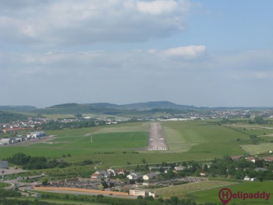 Nancy-Essey Airport by helicopter
