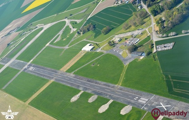 Cambrai Niergnies Airport by helicopter