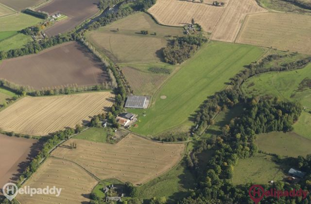 Strathallan Airfield by helicopter
