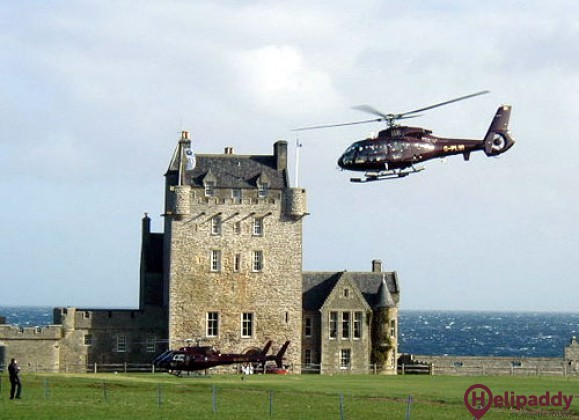 Wick Airport by helicopter