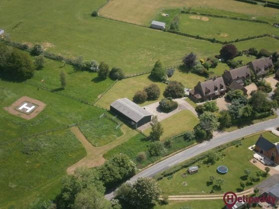 Aston Abbotts (Church Farm) Helipad by helicopter