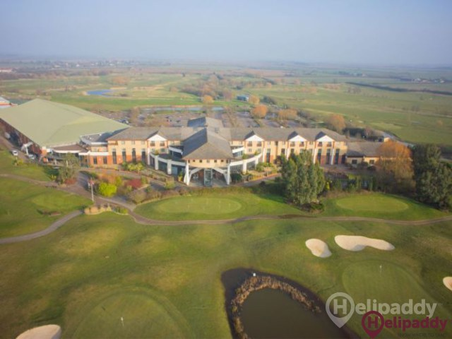 Hellidon Lakes Hotel by helicopter