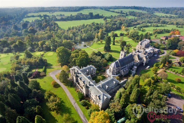 Wakehurst Place by helicopter