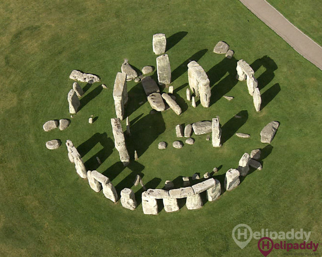 Stonehenge by helicopter