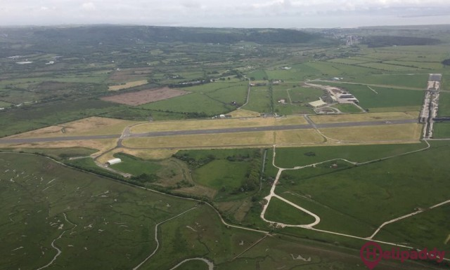 Pembrey West Wales Airport Limited by helicopter