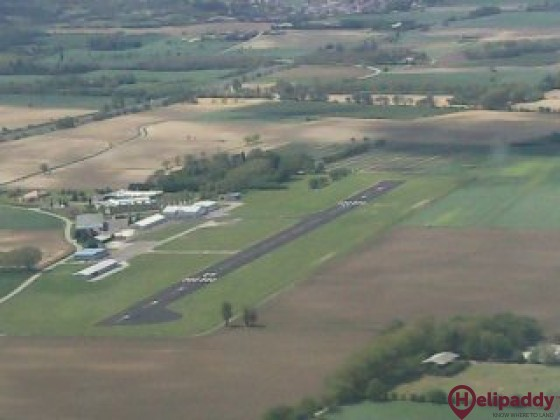 Castelnaudery Airfield by helicopter
