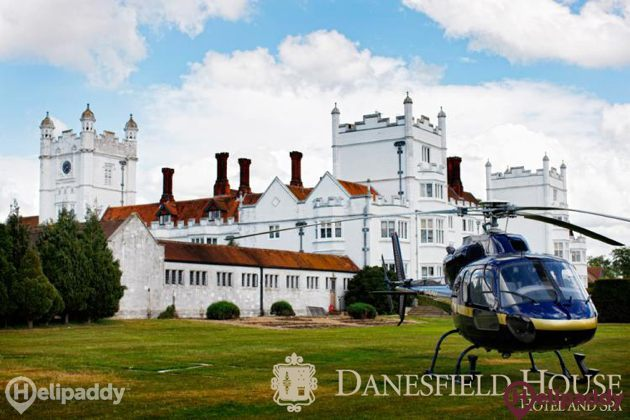 Danesfield House Hotel and Spa by helicopter